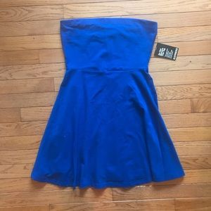 Strapless Blue Express Dress. M